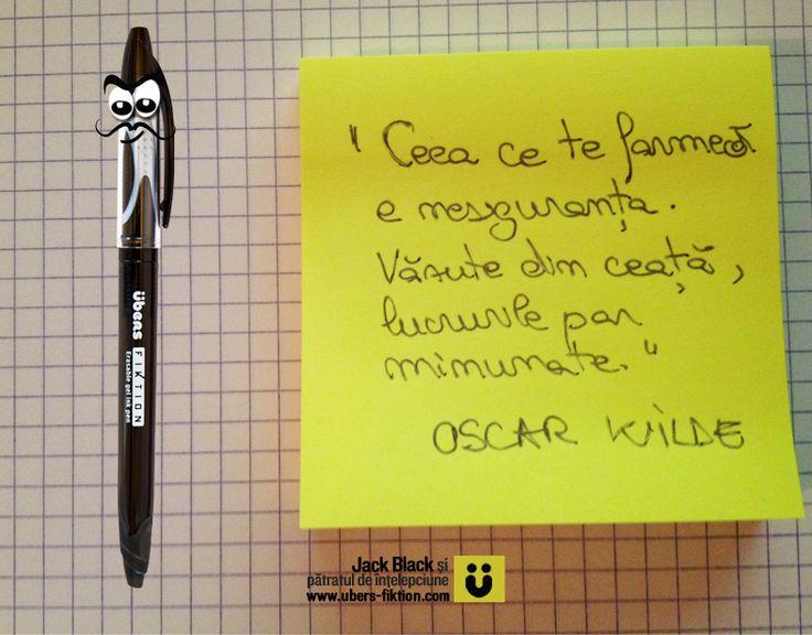 """""""Ceea ce te farmecă este nesiguranța. Văzute prin ceață, lucrurile par minunate."""" Oscar Wilde  #citate #quotes #oscarwilde"""