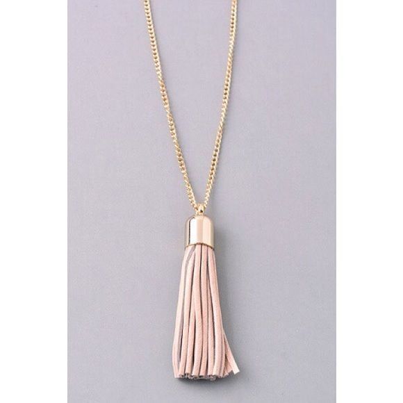 Pink Tassle Necklace Cute and simple! PLEASE DO NOT BUY THIS LISTING. Comment when you're ready to purchase and I'll make a new listing  Jewelry Necklaces