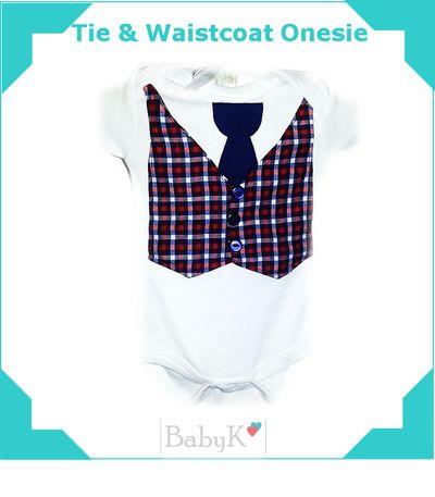 BabyK Tie & Waistcoat Onesie.