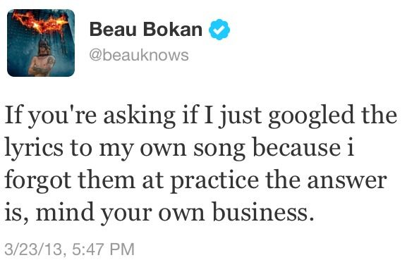 Beau Bokan, lead singer for blessthefall everybody