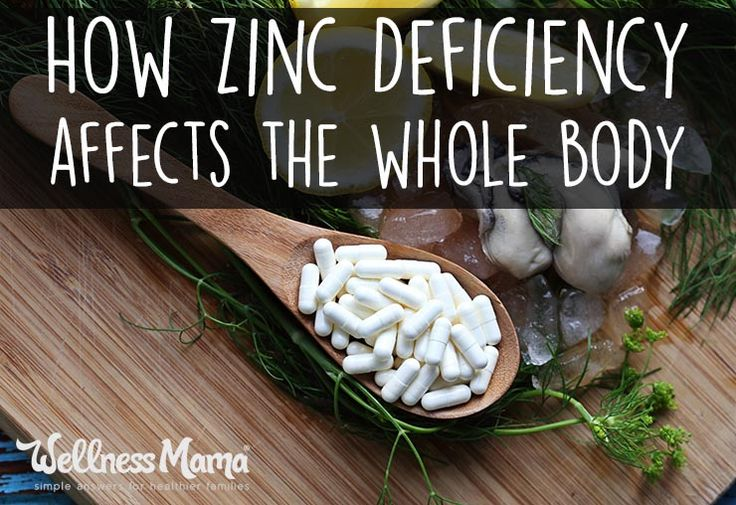 How Zinc Deficiency Affects the Whole Body  Zinc is a master-mineral of sorts, and is needed for many reactions within the body. Unlike fat soluble vitamins, zinc is not stored for long periods of time in the body, so we need a constant supply of quality zinc from diet.  We don't need large amounts of zinc each day, but it is absolutely vital that we get enough ->