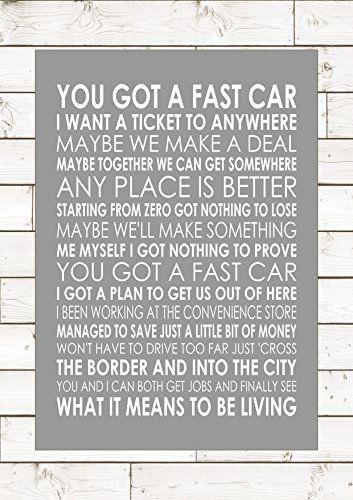 FAST CAR - TRACY CHAPMAN - Lyrics Lyric Song Words Print ... https://www.amazon.co.uk/dp/B01M7ZPOSM/ref=cm_sw_r_pi_dp_x_jkdiybR6QSCWB