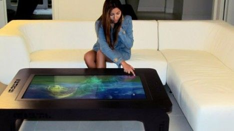 mozayo multi touch hardwood table