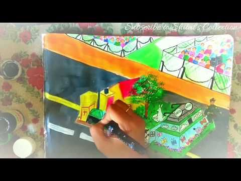 painting of Republic Day parade of swach Bharat | swach Bharat
