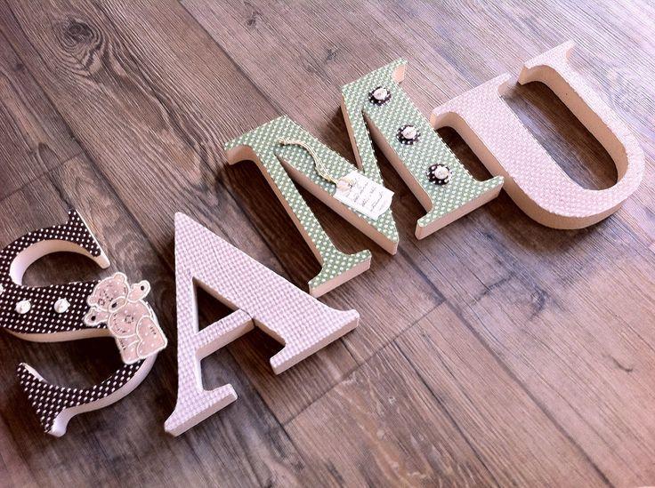 SAMU egyedileg díszített polisztirol habbetűk igény szerinti színvilággal és egyéni/egyedi stílusban rendelhetők.  A betűk 19cm magasak és a 3cm szélesek. #### name, letters handmade, baby, gift ,név, betűk, kézzel készült, bébi, ajándék...