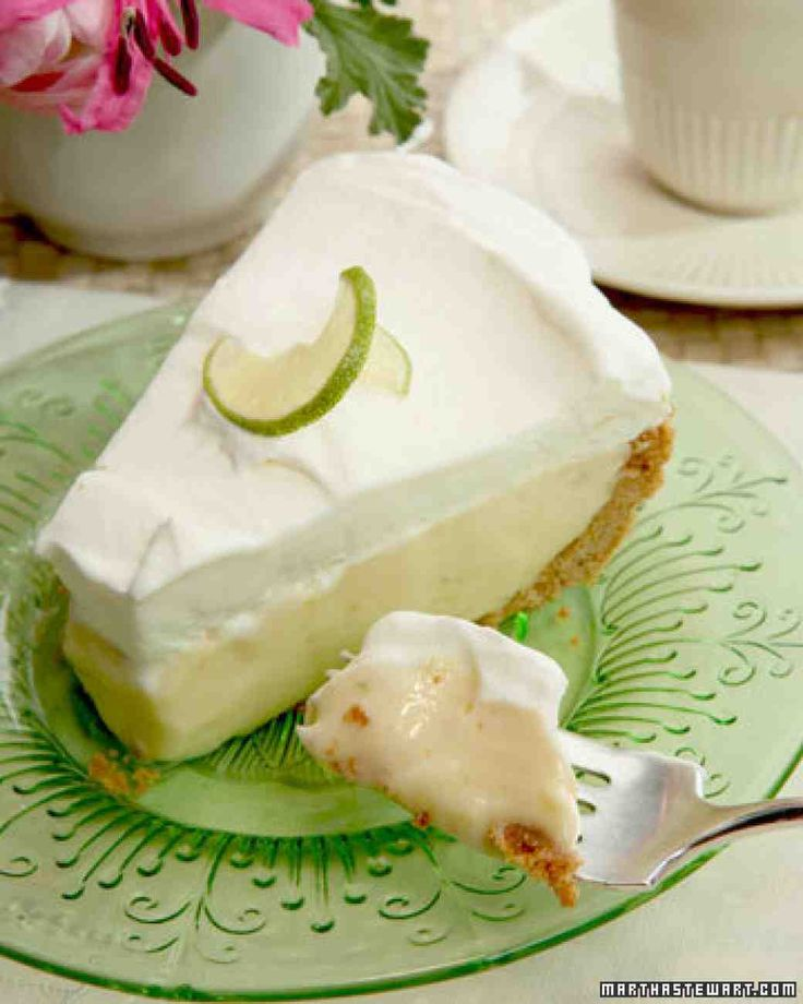 Frozen Key Lime Pie Recipe   Follow @MS_Living on Pinterest for more recipes and inspiration from the editors of Martha Stewart Living.