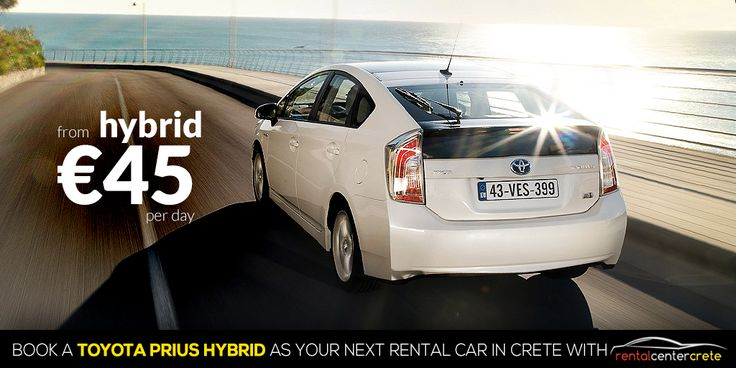 Book now a Hybrid Car like #Toyota Prius with Rental Center Crete. Go Green, Go Prius!  http://www.rental-center-crete.com/cars/group-x/toyota-prius.html