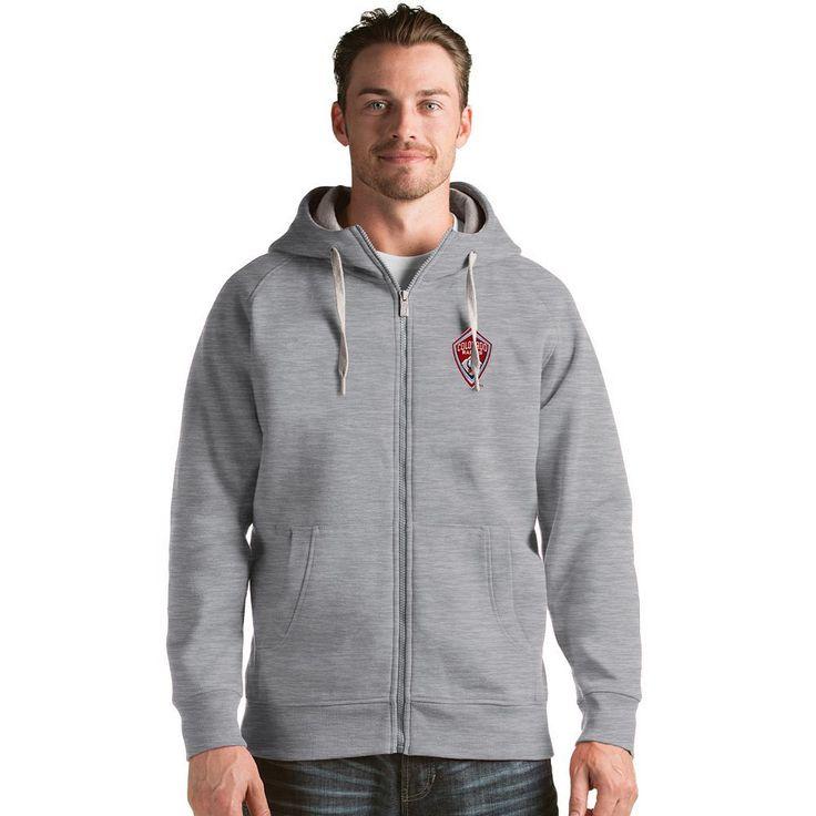 Men's Antigua Colorado Rapids Victory Full-Zip Hoodie, Size: Medium, Grey