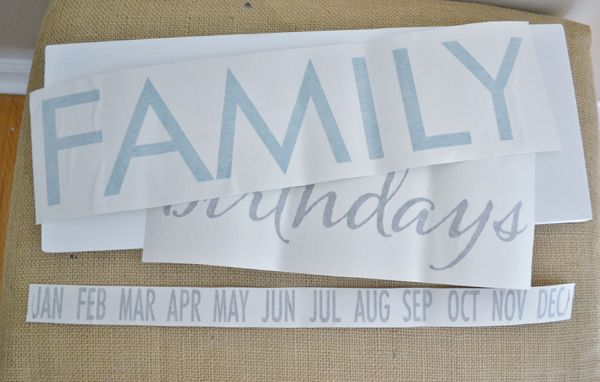 family birthday board {a tutorial} - burlap and blue