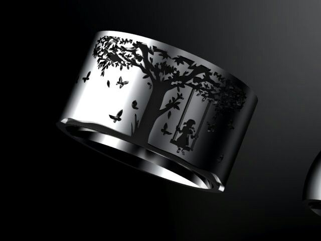 Ladies 9ct white gold ring