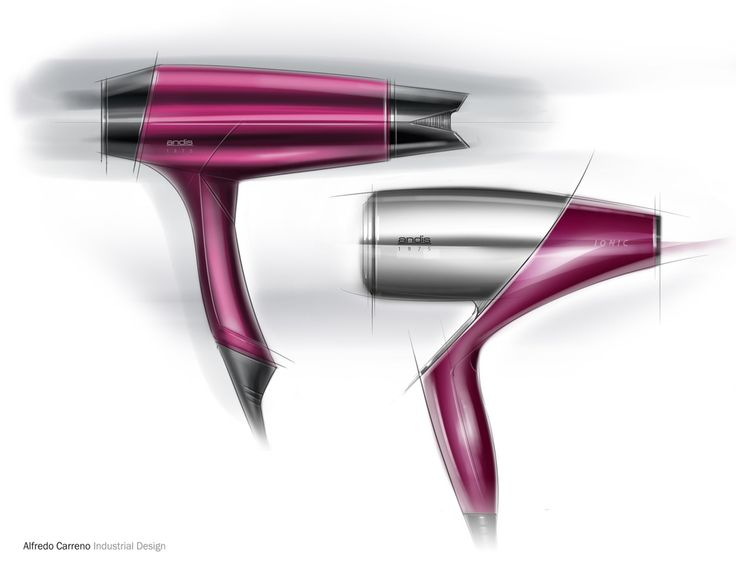 Sketches we like / Digital Sketch / Wacom / hair Drier/ at Sketching Samples - Alfredo Carreno Industrial Design Works