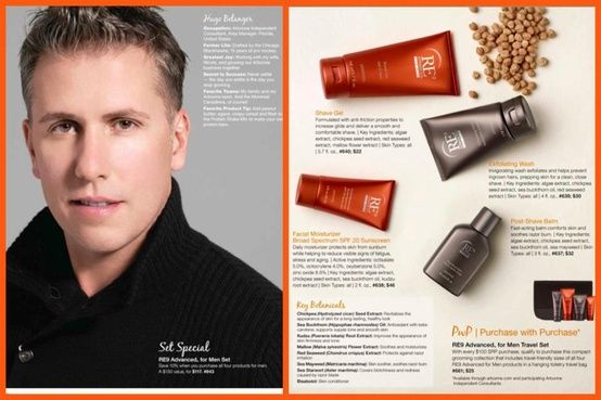 Former Chicago Blackhawks Pro Hockey Player, Hugo Belanger- now an Arbonne Independent Consultant,pictured above. RE9 For Men is an advanced line of grooming products that address the specific skincare needs of men. Skin-soothing botanicals comfort skin and soothe razor burns for the ultimate comfortable shave. Clinically proven ingredients start working immediately to minimize the signs of aging smoothing fine lines and improving over all skin. www.kathygover.myarbonne.com