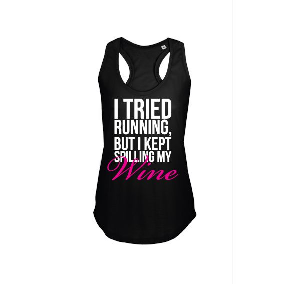 Dames | tanktop Running and wine (800579)