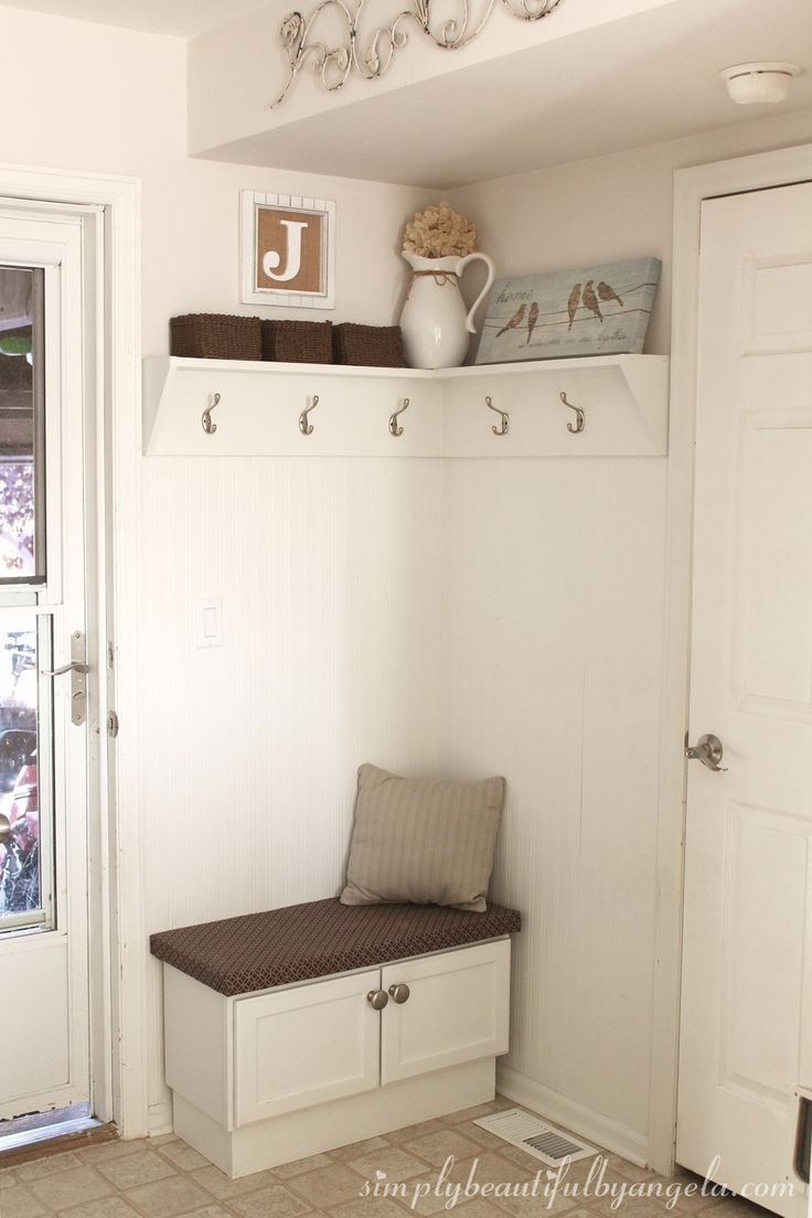 Simply Beautiful By Angela My One Year Blogiversary Diy Corner Mudroom Using Beadboard