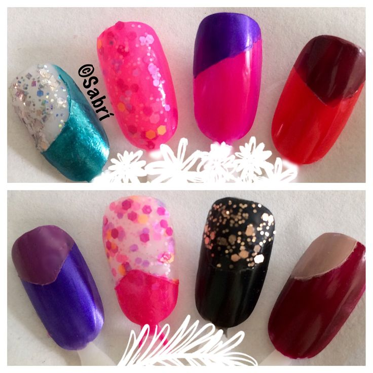 Need a cure for the #winterblues? Try my new #naildesigns in #brightcolor #geometricforms and #glitter! #nailart 💅🏼 #Nails #Uñas #Unghie #Ongles  #Unhas #Nailpolish #Esmalte #Smalto #Émail. #Beauty #Belleza #Bellezza #Beauté #Beleza #Cosmetics #Cosméticos #Cosmetici #fabat40.