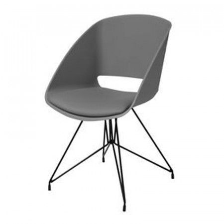 Retro grijze stoel