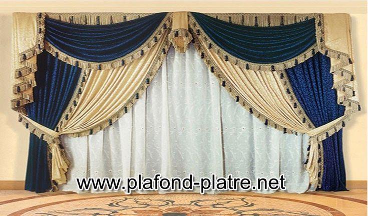 Appréciez cette gamme de rideau voilage spécialement confectionné pour les ouvertures de salon marocain design oriental. Un modèle très spécial à base de tissu en soie de bonne qualité de textile marocain doté d'une grande opacité qui empêche la vision d'extérieur et c'est une bonne marque très populaire avec un cache rideau transparent qui charme …