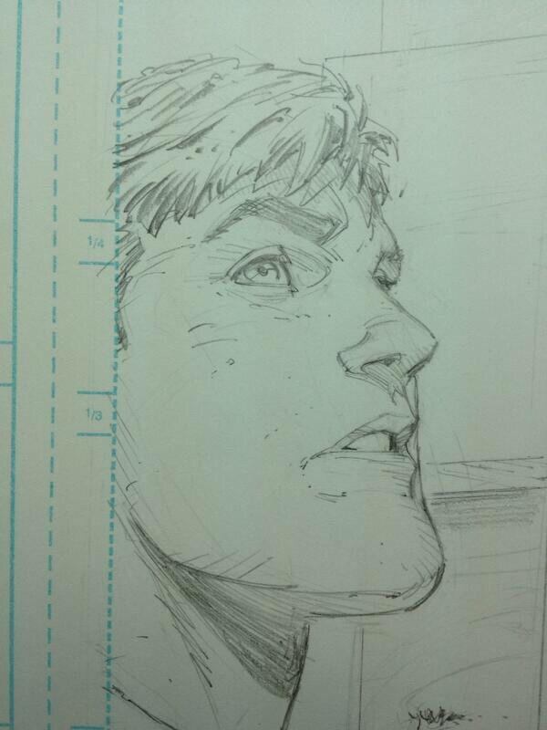 Greg Capullo sketch of Bruce Wayne
