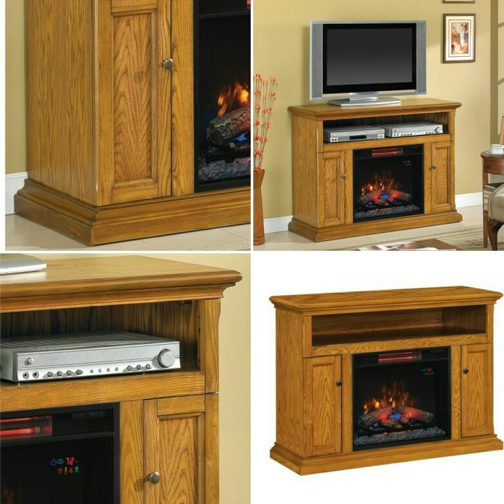 """For a classy and gorgeous addition to your home, look no further than the Media Fireplace Cannes. The sturdy fireplace in aAntique Oak finishaccommodates up to 53"""" and more than 4 media components. Shop now at hombee.co.uk!   https://hombee.co.uk/cannes-media-fireplace-with-23-insert-antique-oak"""
