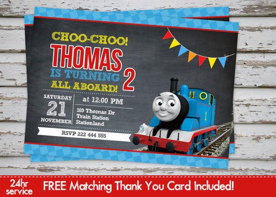 52 best thomas invitations images on pinterest thomas and friends thomas train birthday invitation thomas and by debsprintables filmwisefo Gallery