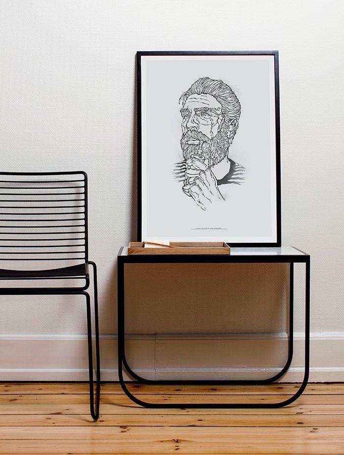BEARDED MAN #2 BY DARIA ZAITSEVA FOR PAPER COLLECTIVE. http://www.paper-collective.com/product/bearded-man-2-by-daria-zaitseva-03003