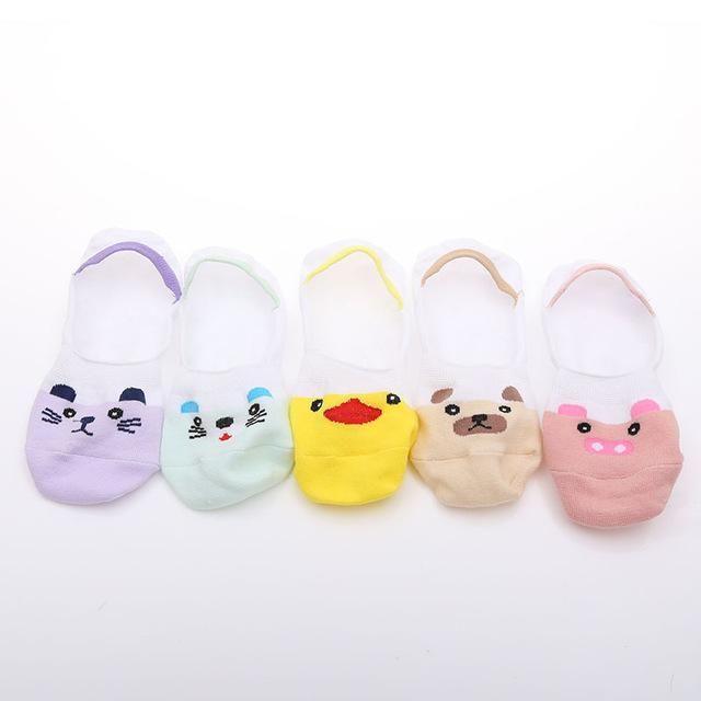 Korean Kawaii 5 Pairs Animal Print Socks