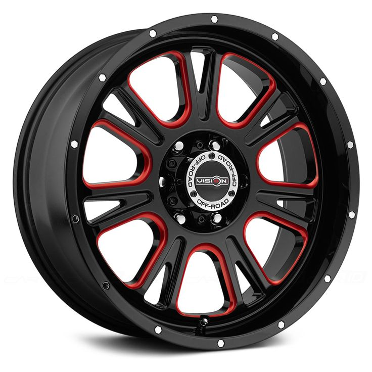 VISION OFFROAD® 399 FURY Gloss Black with Red Accents