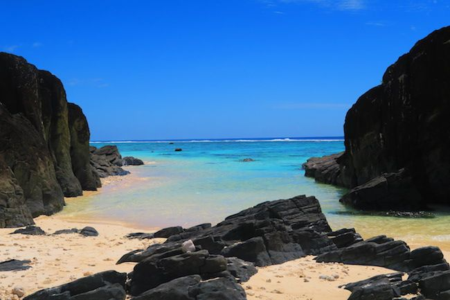 Black Rocks beach in Rarotonga