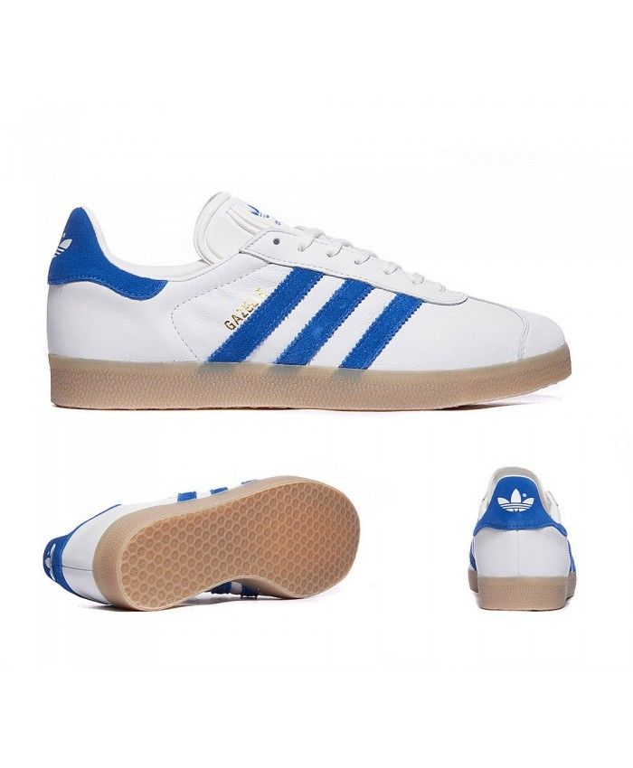 Adidas Originals Gazelle Og White And Blue Trainers Sale UK  6ce094608