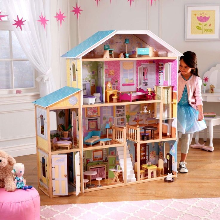 #Girl #Toy #Gift #Majestic Mansion #Dollhouse with 34 Accessories Victorian #Furniture