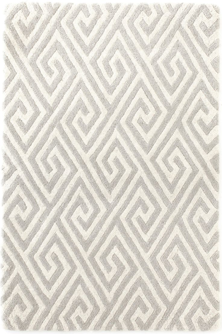 Dash Albert Fretwork Grey Wool Tufted Rug Available Maryland Paint Decorating