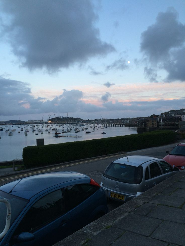 Falmouth Harbour sky and sunset