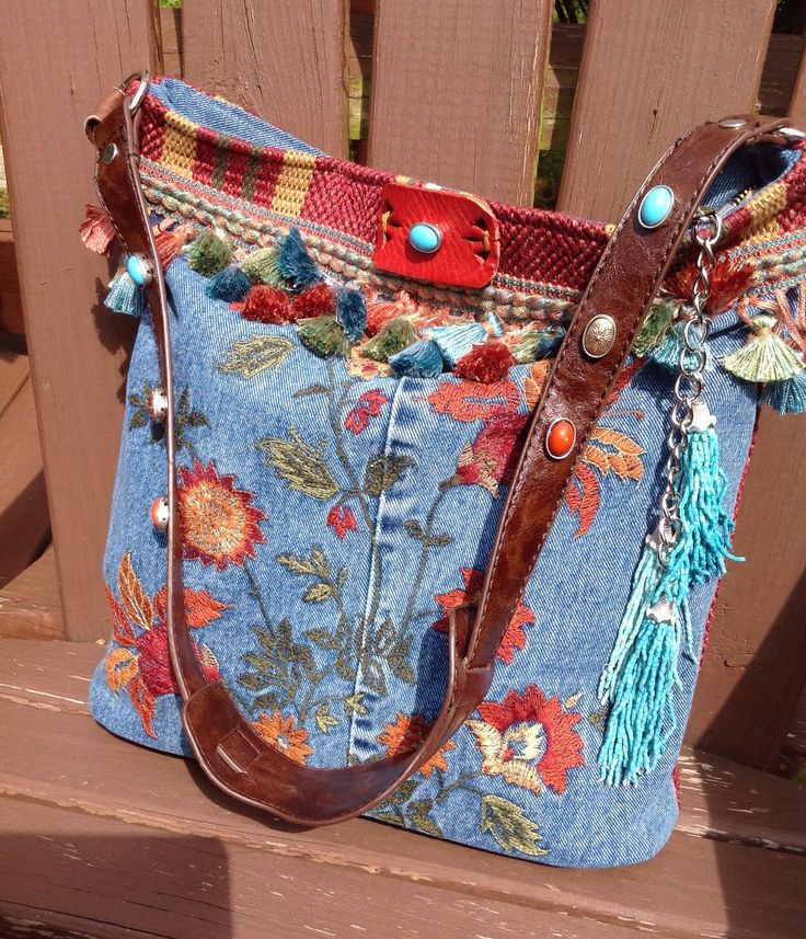 A personal favorite from my Etsy shop https://www.etsy.com/listing/517896294/embroidered-denim-and-leather-bohemian