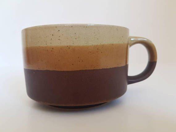 Gorgeous Vintage Stoneware Cups // Two Colourways //