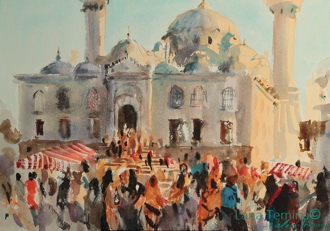 Lana Temina Istanbul #watercolor #painting #art #istanbul #