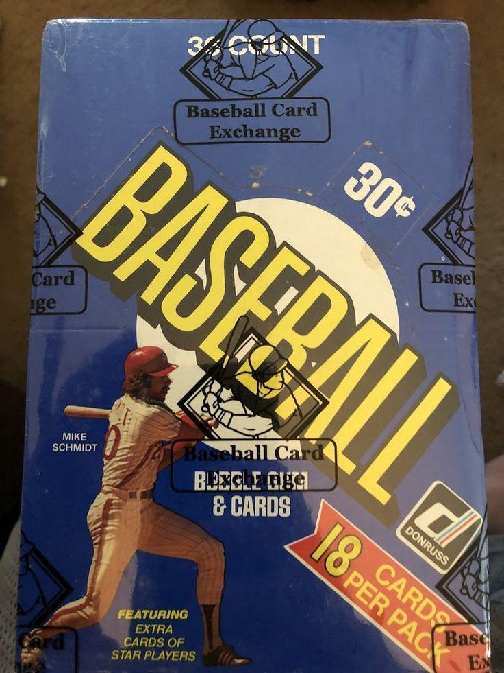 1981 donruss baseball card unopened wax box bbce tim
