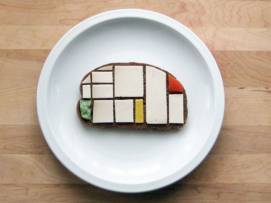 Above: Mondrian sandwich