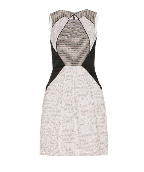 CUE - Spliced Boucle Dress #EthicalClothingAustralia