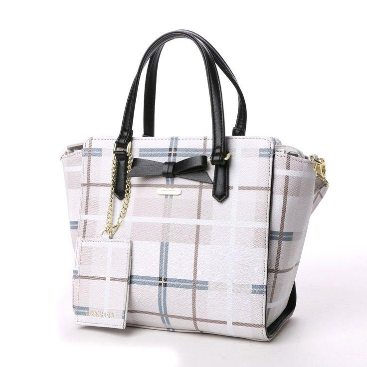 ミッシュマッシュ MISCH MASCH ココア チェックプリント2WAYミニトートバッグ (ブラウン) -靴とファッションの通販サイト ロコンド
