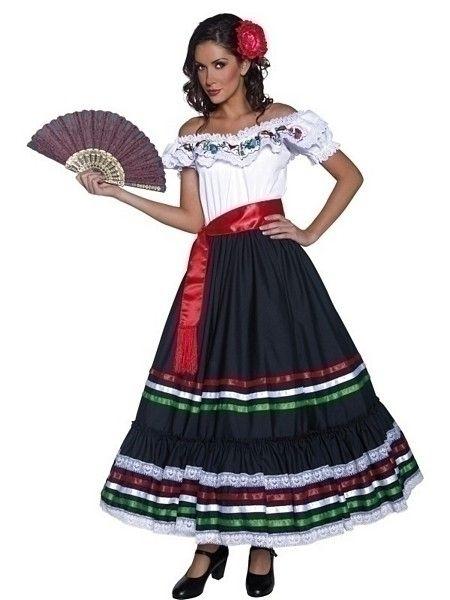 Authentic Western Sexy Senorita Costume - UK Dress 16-18