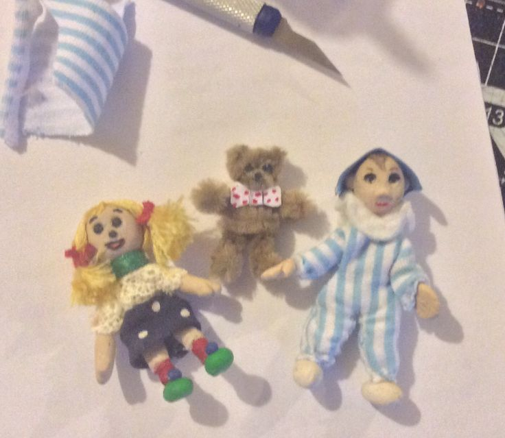 Andy Pandy, Looby Loo and Ted in miniature.
