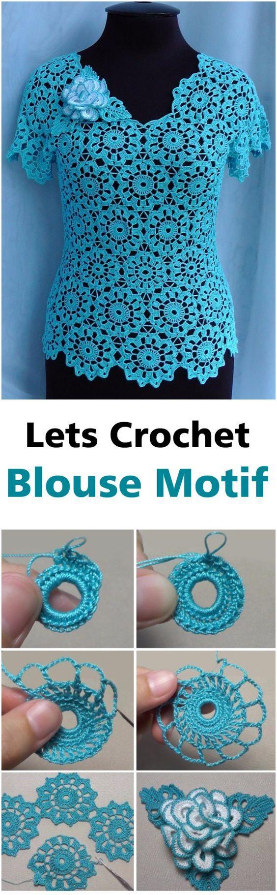 Blouse Motif Crochet