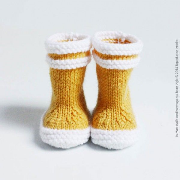 Knitting Pattern For Baby Wellies : Bottes de marin maille bebe laine. Crochet // Knit Pinterest Inspiratio...