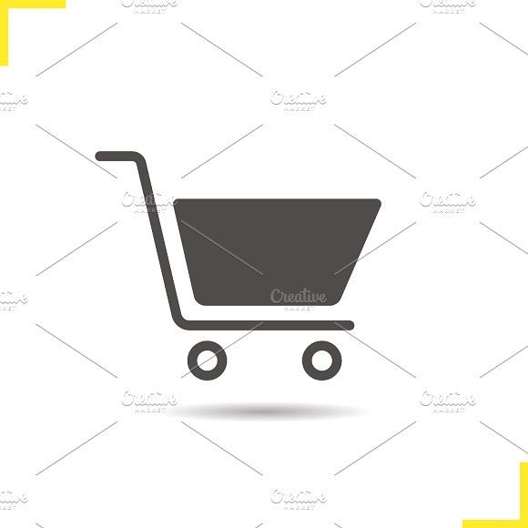 Shopping cart icon. Vector by Icons Factory on @creativemarket