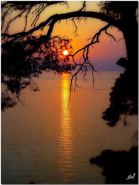 ~~Sunset in Greece ~ Sani, Halkidiki by jvaiba~~