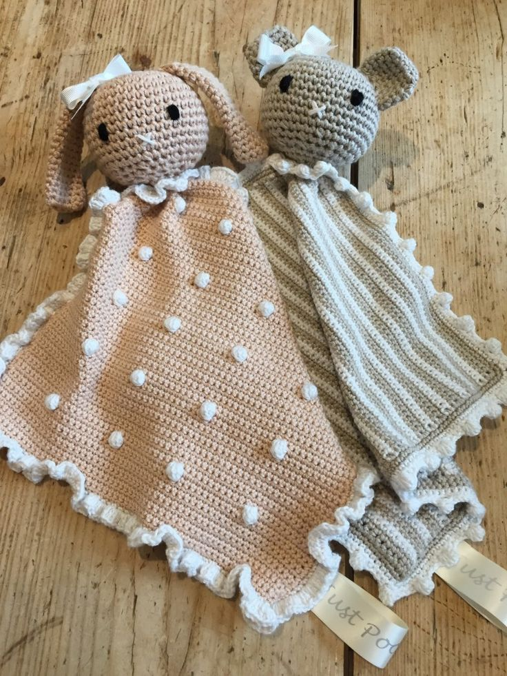 LoveCrochet |   How adorable are these little taggy blankets? Crochet them for the babies in your life and make a couple of extra for gifts!    There's something very special about that a toy that get