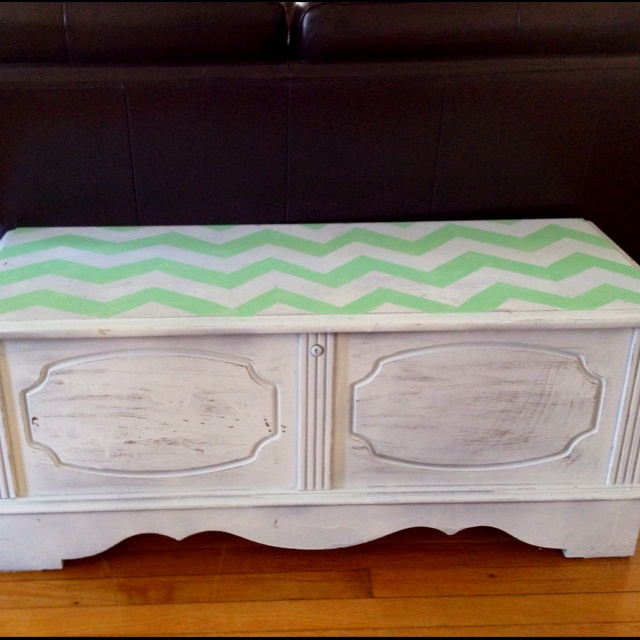 Old Cedar Hope Chest Revamped. Spray Painted White And Sanded To Look  Distressed All Over · Furniture RefinishingFurniture ...