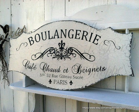 Shabby Chic Kitchen Signs : Boulangerie french signs kitchen signs french bakery 27 x 14