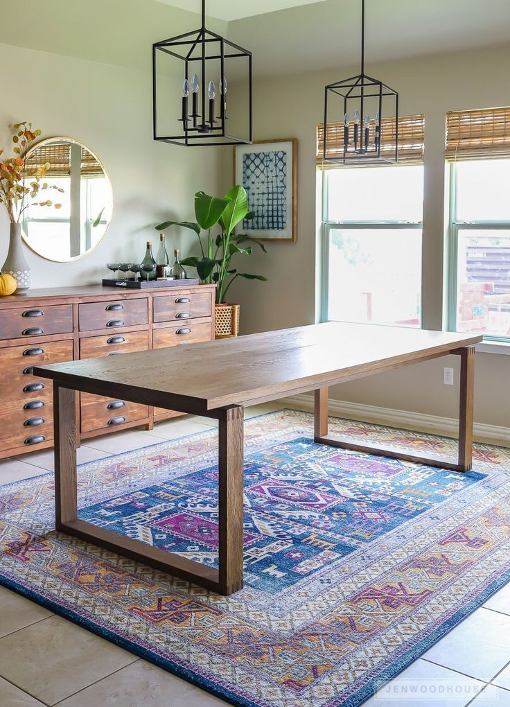 Build A Modern Dining Table Plans By Jen Woodhouse Woodworkingplansmidcentury Modern Dining Table Diy Dining Modern Dining Room