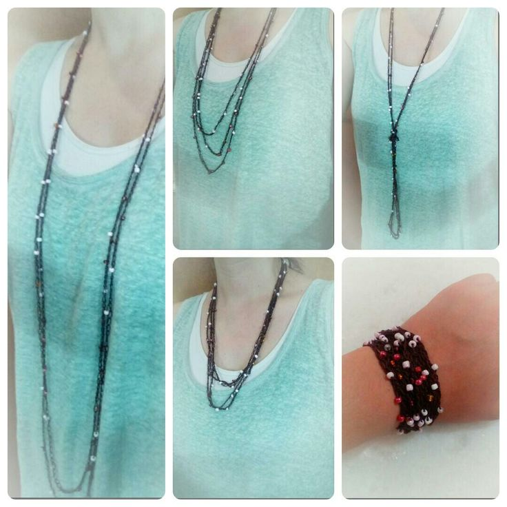 A new item in my shop !!... A 2 in 1 accessory !....Necklace AND bracelet !....Check it out....